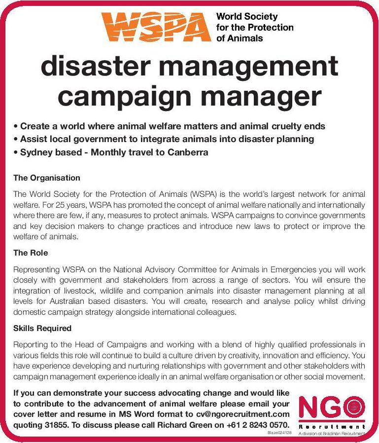 Disaster Management, Campaign Manager