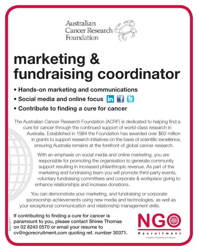 marketing communications and fundraising of ngo If you're thinking the charity sector could be for you, take a look at the seven main types of roles you could do after graduating  marketing, communications and.