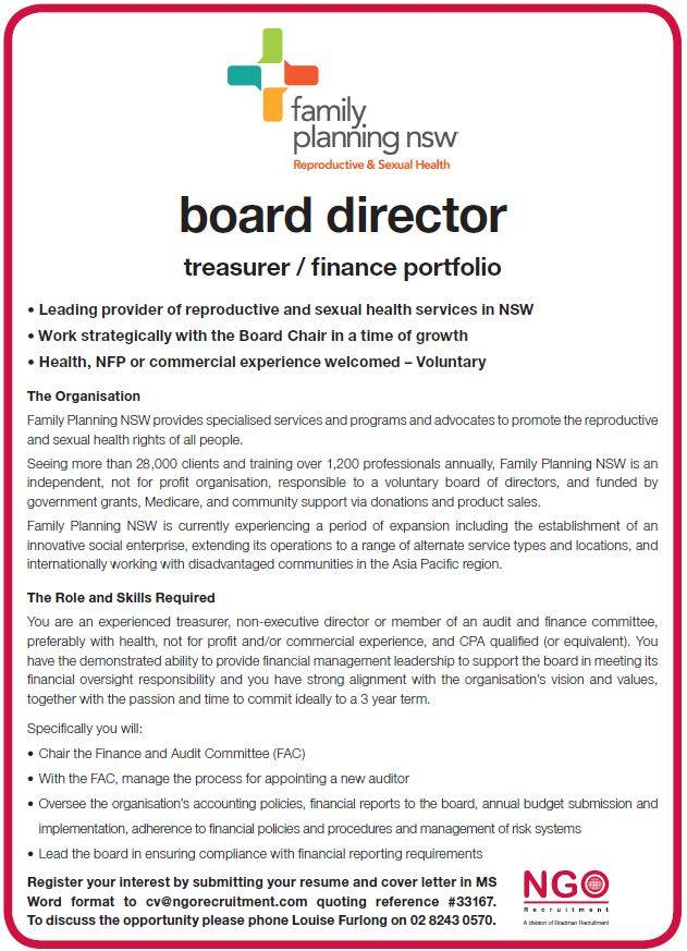 board director treasurer finance portfolio - Board Of Director Resume