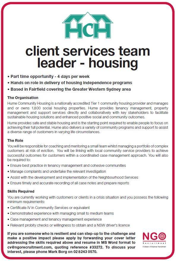 ngo recruitment direct service