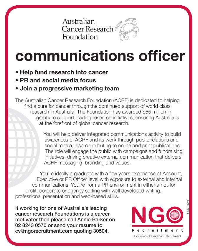ngo recruitment communications and media ngo recruitment - Sample Public Relations Manager Resume