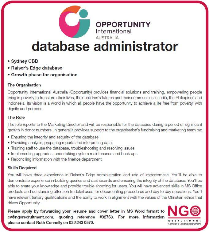 Ngo Recruitment Database  Ngo Recruitment