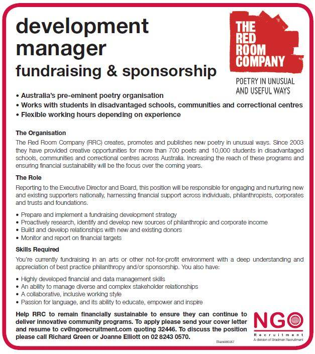development fundraising cover letter