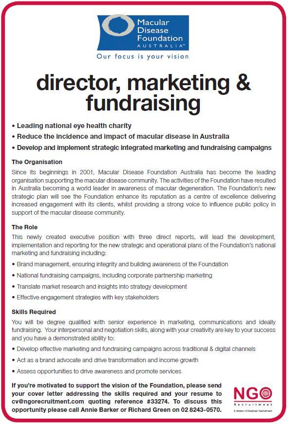 fundraising cover letter