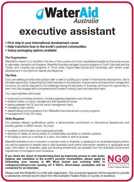 NGO Recruitment Finance Manager and Administration NGO Recruitment