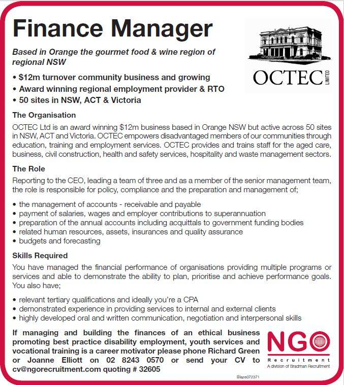 Ngo Recruitment Finance Manager And Administration  Ngo Recruitment