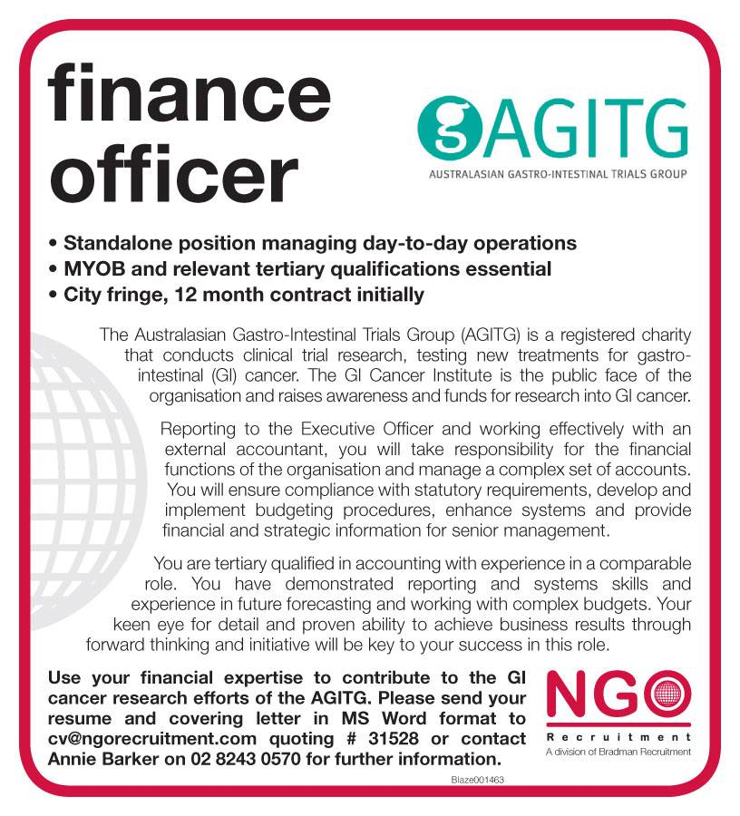 finance officer This finance officer job description template is optimized with financial and administrative duties to cover your needs and is easy to post to job boards.