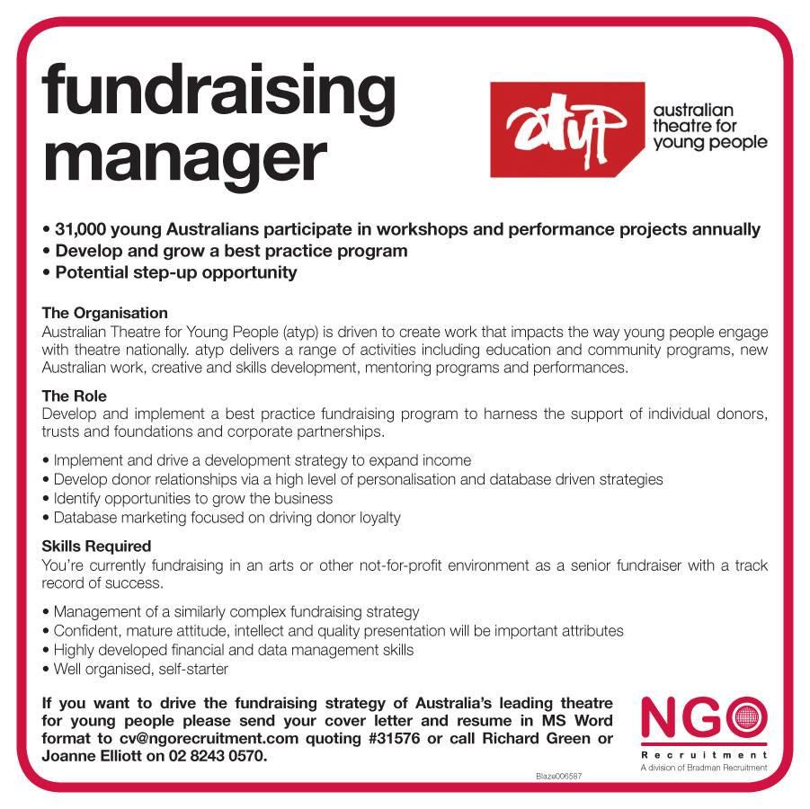 NGO Recruitment | Fundraising Manager
