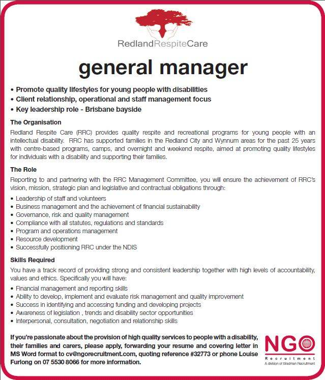 Ngo Recruitment General Manager Ngo Recruitment
