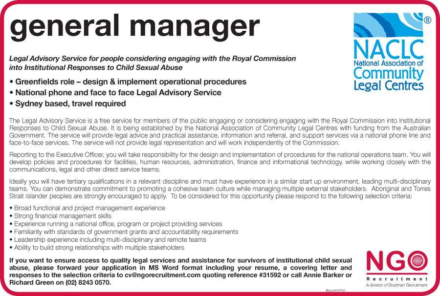 ngo recruitment general manager ngo recruitment