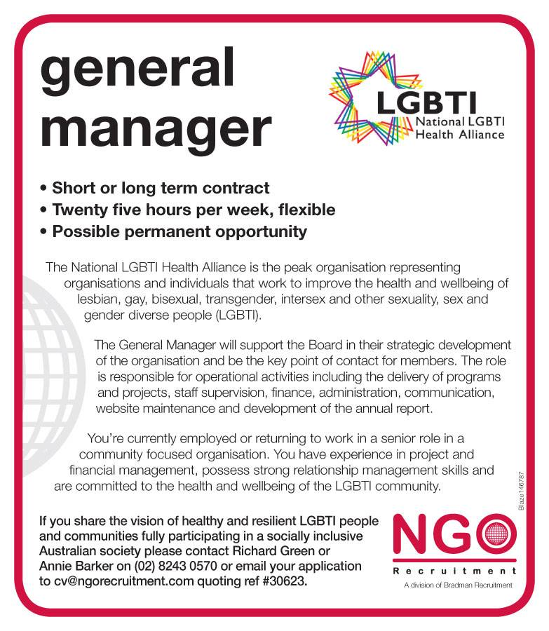 NGO Recruitment General Manager NGO Recruitment – General Manager Job Description