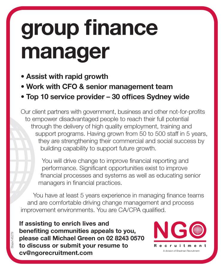group finance manager