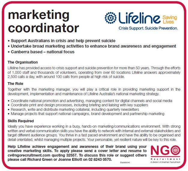 Cover Letter For Marketing Coordinator Role