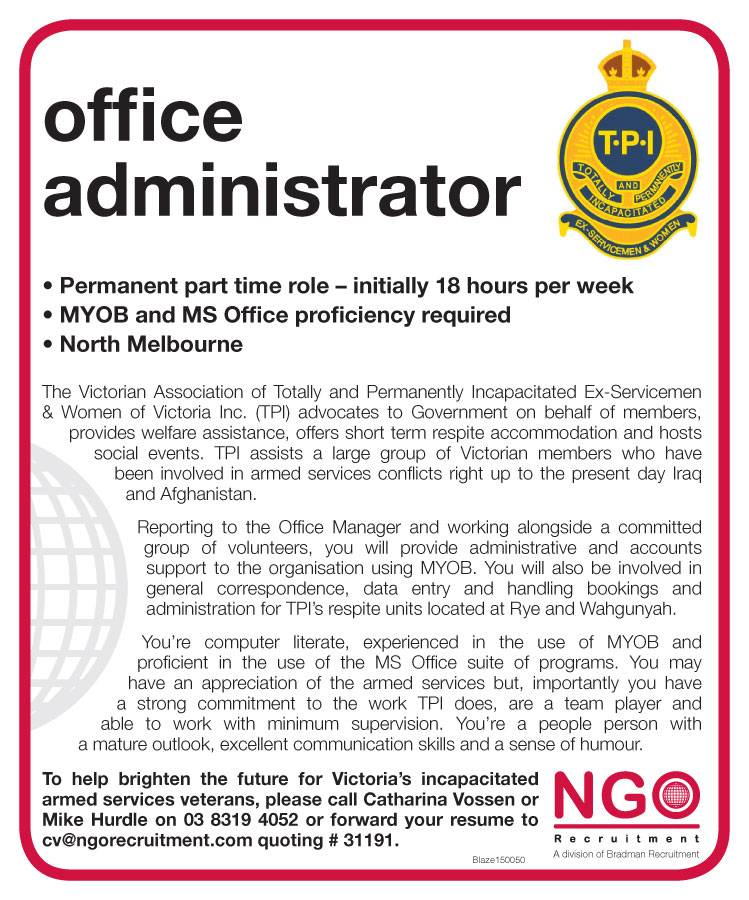 Ngo Recruitment Finance Manager And Administration