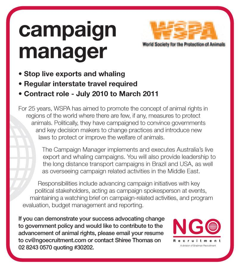 Ngo recruitment advocacy ngo recruitment program manager advertising pronofoot35fo Gallery