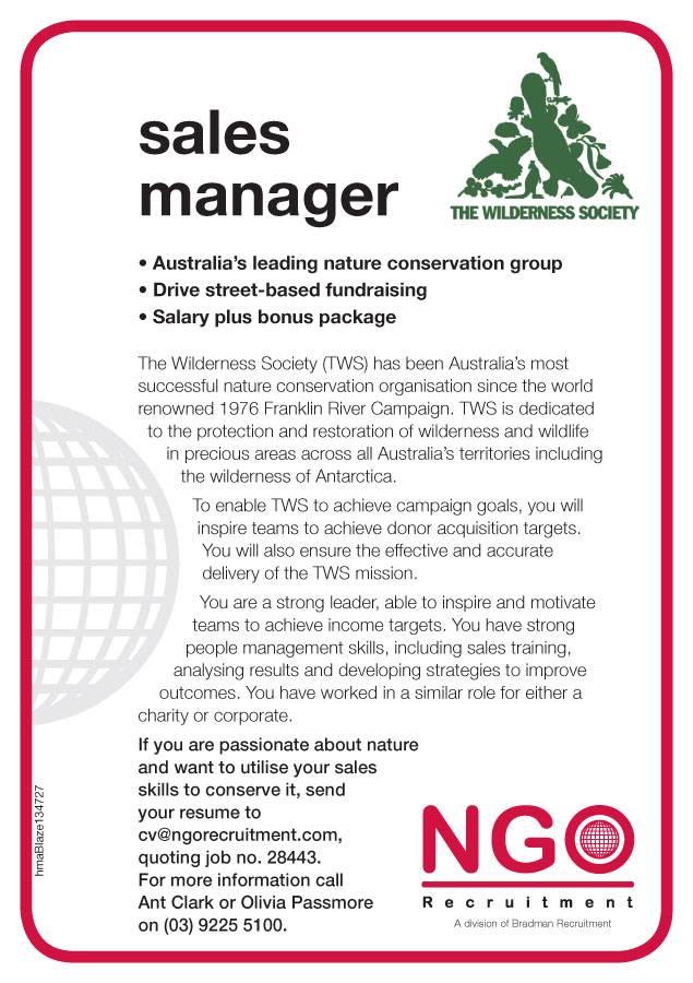 ngo recruitment regional sales mgr
