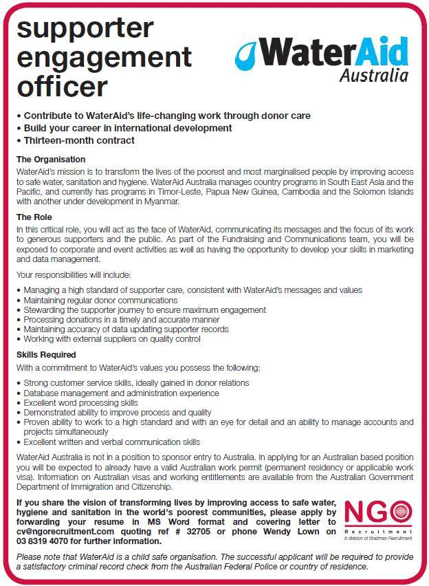 job resume writing for fundraising co ordinator positions