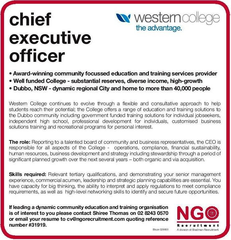 NGO Recruitment  Chief Executive Officer Job Description