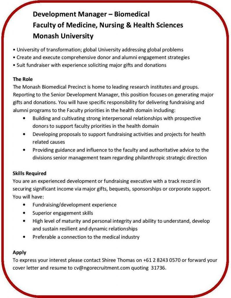 Amazing Monash University Resume Samples Pictures Entry Level
