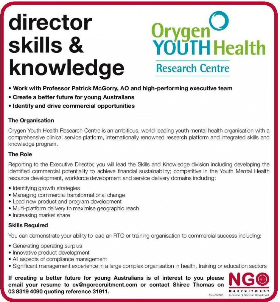 NGO Recruitment Director of Fundraising and Development - NGO ...