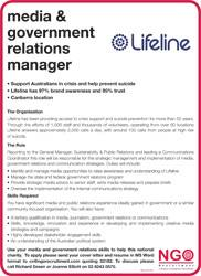 Media and Government relations manager