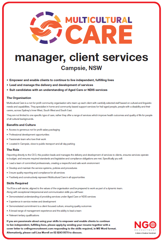 ngo recruitment general manager