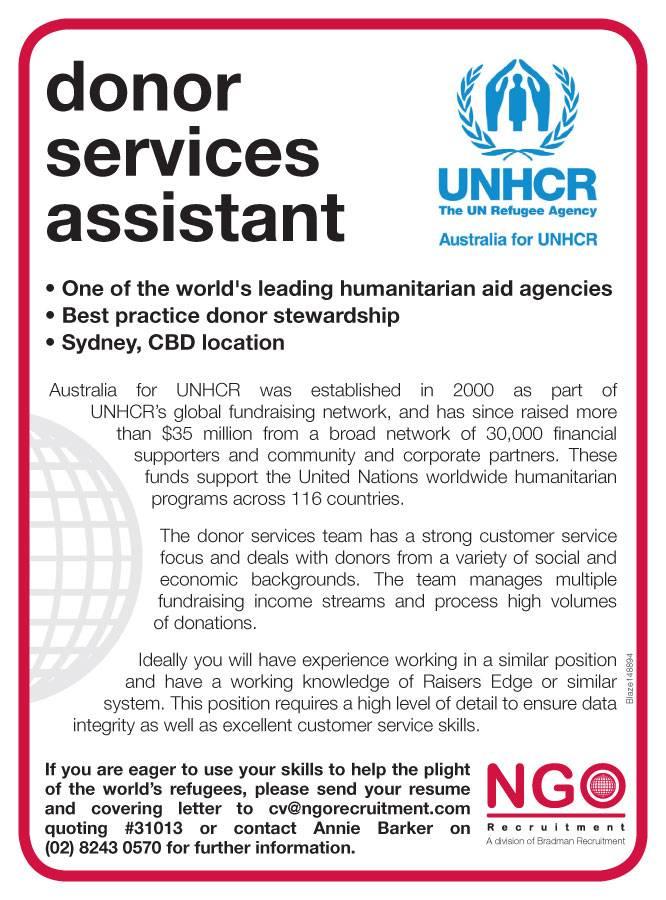 ngo recruitment donor services