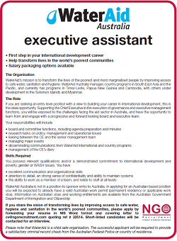 NGO Recruitment | Executive Assistant