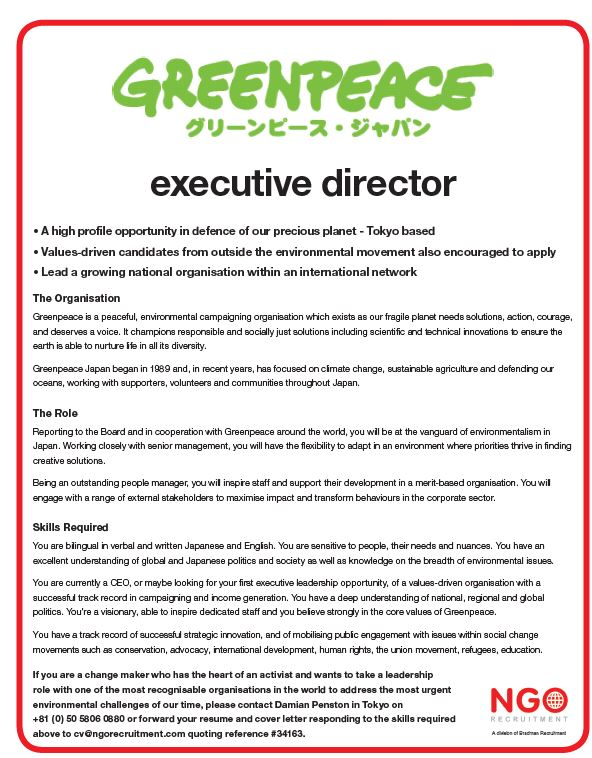 NGO Recruitment Chief Executive and Board Director | NGO ...