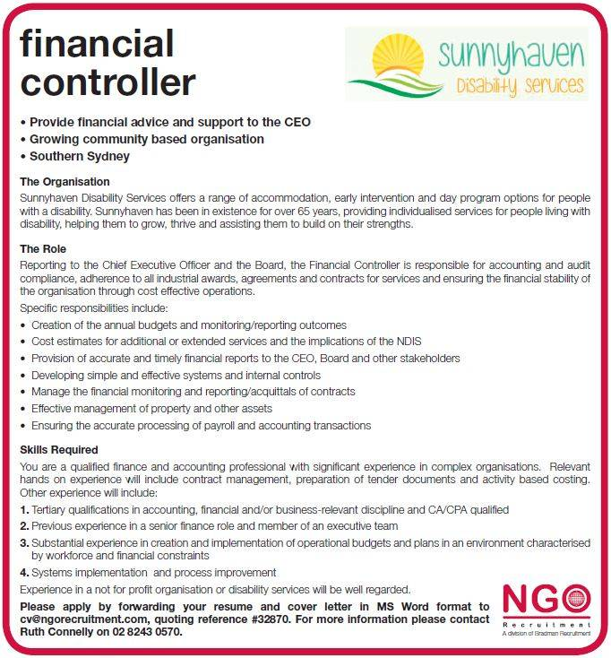 Sample Cover Letter For Financial Controller Job Finance