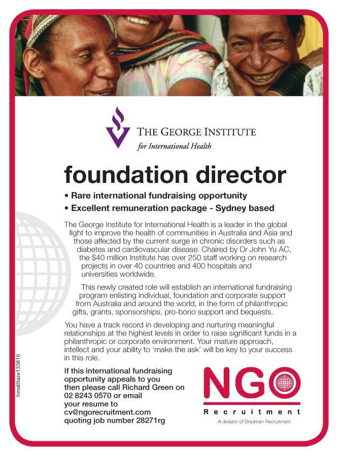 ngo recruitment philanthropy  major gift and relationship fundraising